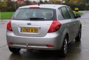 ATTELAGE KIA CEE-D BREAK 2007->2012 (Sporty Wagon) - rotule equerre - attache remorque BRINK-THULE